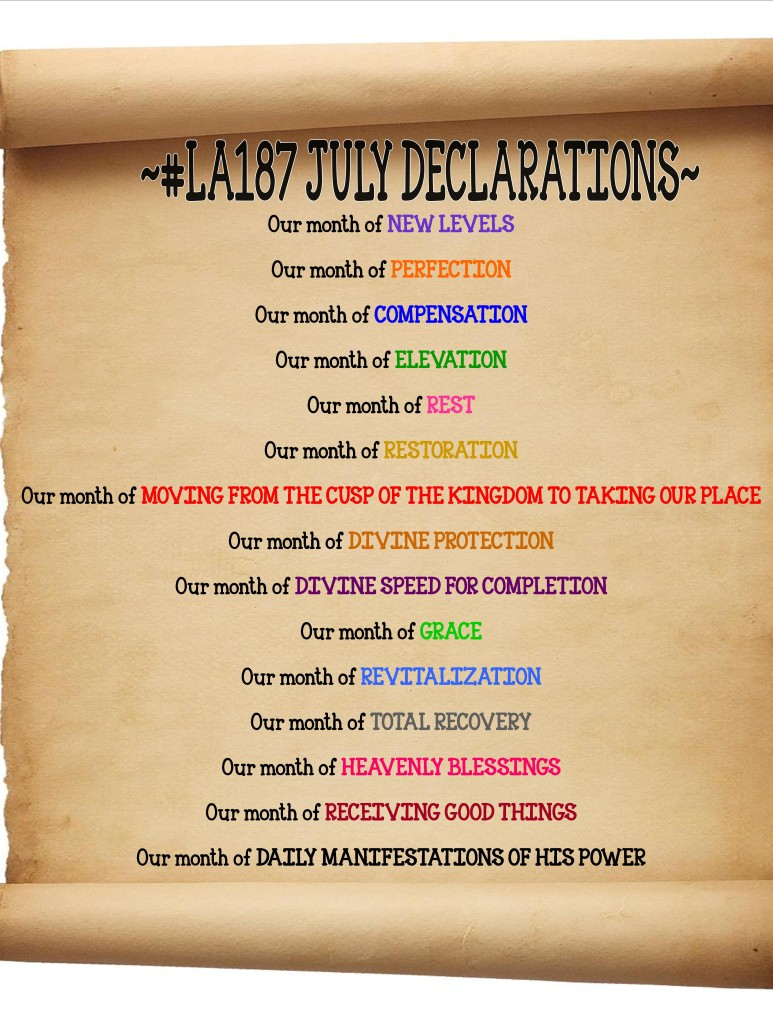 Our Declarations.... What Are Yours?